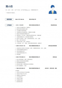 首席财务官CFO免费简历模板下载word格式
