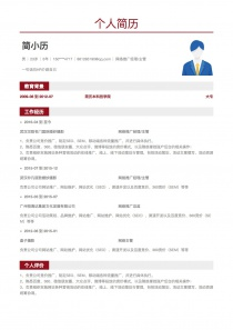 网络推广经理/主管个人简历模板下载word格式