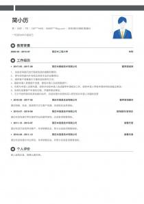 咨询/顾问/调研/数据分析电子版word简历模板制作