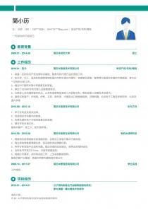知识产权/专利/商标空白求职简历模板样本