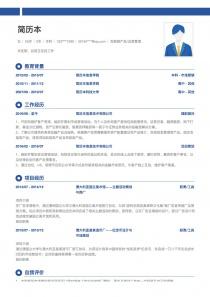 网站推广/运营个人简历表