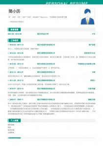 市場策劃/企劃經理/主管電子版簡歷模板
