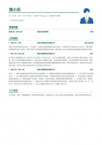 智联招聘财务/审计/税务空白免费简历模板