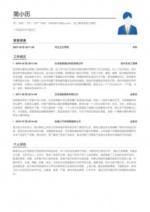 总工程师/副总工程师word简历模板