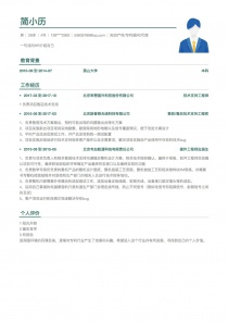 知识产权/专利顾问/代理人简历模板